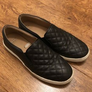 Black Reese Quilted Sneakers